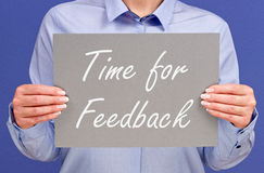 Time for feedback Stock Image