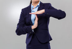Businesswoman timeout gesture Stock Image