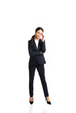 Businesswoman tired because of troubles Royalty Free Stock Photo