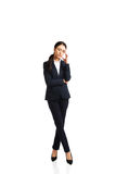 Businesswoman tired because of troubles Stock Image