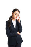 Businesswoman tired because of troubles Stock Photos
