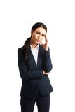 Businesswoman tired because of troubles Stock Photo