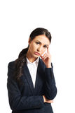 Businesswoman tired because of troubles Stock Images