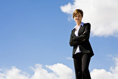 Businesswoman on top Stock Photos