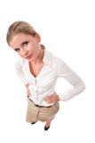 Businesswoman from top Royalty Free Stock Photos