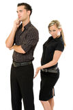 Businesswoman touch her boss Stock Images