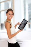 Businesswoman with touchpad Royalty Free Stock Image
