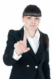 Businesswoman and touchscreen Royalty Free Stock Photography