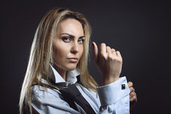 Businesswoman with tough expression Stock Images