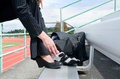businesswoman track Στοκ Εικόνα