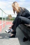 businesswoman track Στοκ φωτογραφίες με δικαίωμα ελεύθερης χρήσης