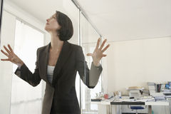 Businesswoman Trapped In Office Royalty Free Stock Image