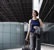 Businesswoman Traveler Journey Business Travel stock photography