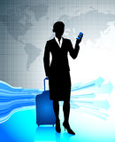 Businesswoman traveling around the world Royalty Free Stock Image