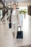 Businesswoman traveller Stock Photos