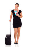 Businesswoman travelling Stock Photography
