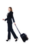 Businesswoman travelling Stock Images
