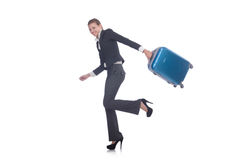 Businesswoman travelling Stock Image
