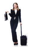 Businesswoman travelling Royalty Free Stock Photos