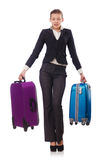 Businesswoman travelling Stock Photo