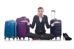 Businesswoman travelling Royalty Free Stock Images