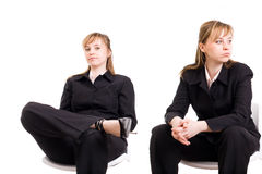 Businesswoman / twins Royalty Free Stock Photography