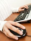 Businesswoman typing in the computer Royalty Free Stock Images