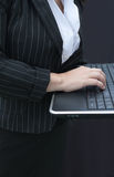 Businesswoman Typing On  Keyboard Royalty Free Stock Photo
