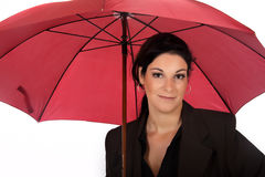 Businesswoman umbrella Stock Photo