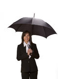 Businesswoman with umbrella Stock Image
