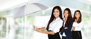 Businesswoman With Umbrella Stock Photography