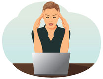 Businesswoman is under stress Royalty Free Stock Photos
