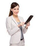 Businesswoman use digital tablet Royalty Free Stock Photography