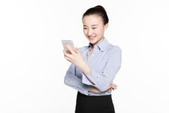 Businesswoman use of mobile phone Royalty Free Stock Photo