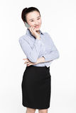 Businesswoman use of mobile phone Stock Images