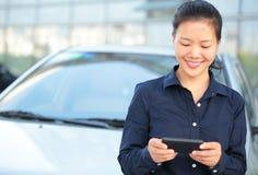 Businesswoman use smart phone Stock Photos