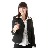 Businesswoman using cell phone Stock Photo