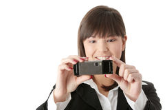 Businesswoman using cell phone Royalty Free Stock Photo