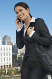 Businesswoman Using Cell Phone Royalty Free Stock Photos