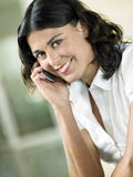 Businesswoman Using Cell Phone Stock Photography