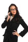 Businesswoman Using Cellphone Royalty Free Stock Photography
