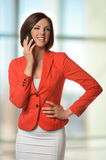 Businesswoman Using Cellphone Stock Photography