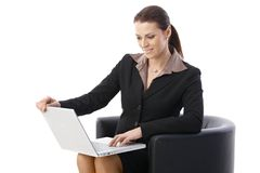 Businesswoman using computer Stock Image