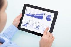 Businesswoman using digital tablet Royalty Free Stock Photos