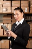 Businesswoman Using Digital Tablet Royalty Free Stock Photos