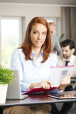 Businesswoman using digital tablet Royalty Free Stock Image
