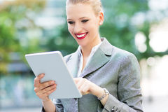 Businesswoman using digital tablet Royalty Free Stock Photography