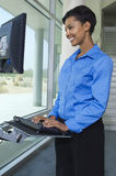 Businesswoman Using Internet On Computer Stock Images