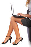 Businesswoman using a laptop Royalty Free Stock Image