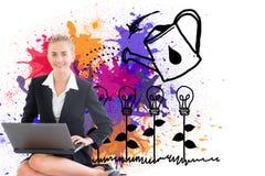 Businesswoman using laptop Royalty Free Stock Photo